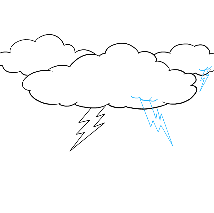 How to Draw Lightning: Step 7