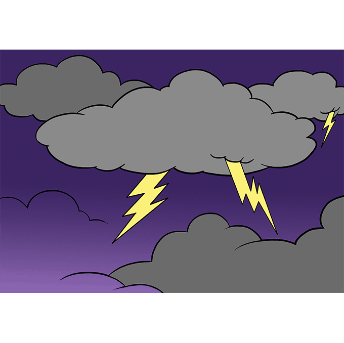 How to Draw Lightning: Step 10