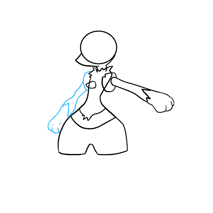 How to Draw Lucario: Step 4