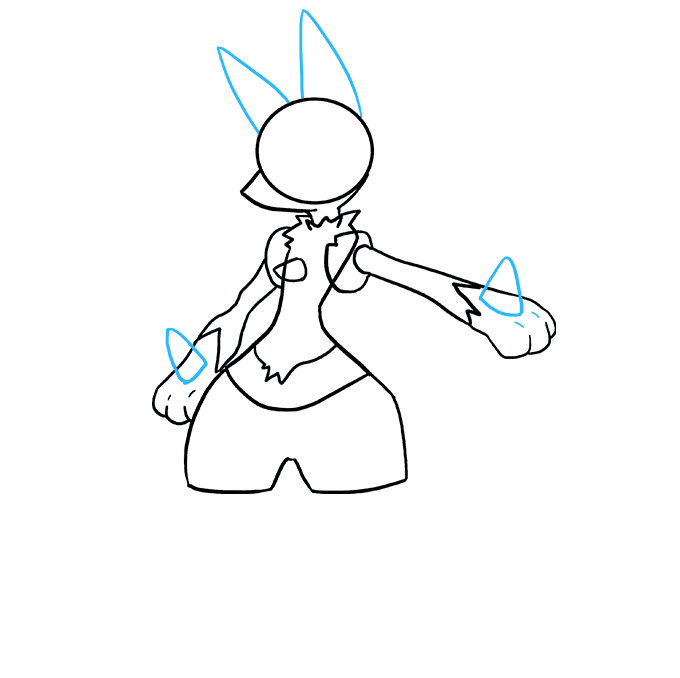 How to Draw Lucario Step 05