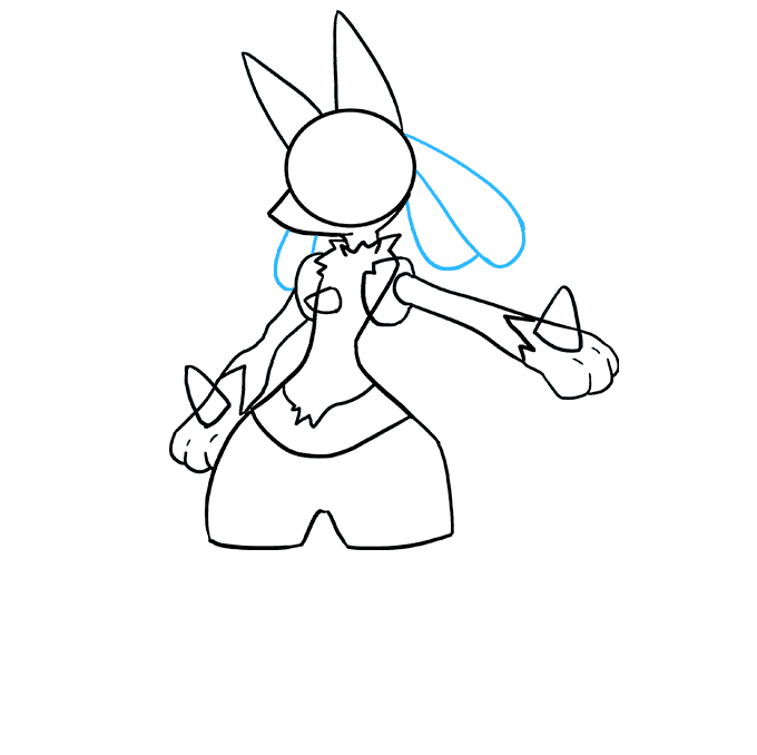How to Draw Lucario Step 06