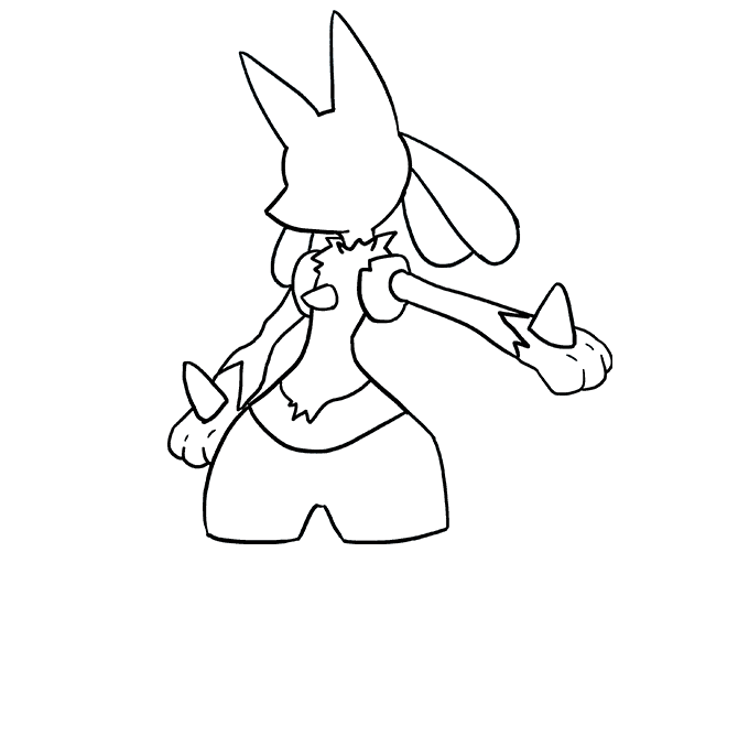 How to Draw Lucario Step 07