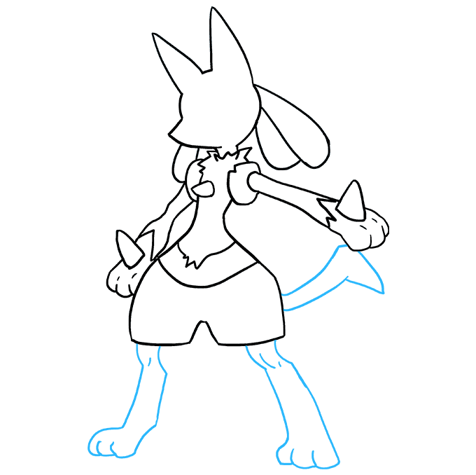 How to Draw Lucario Step 08