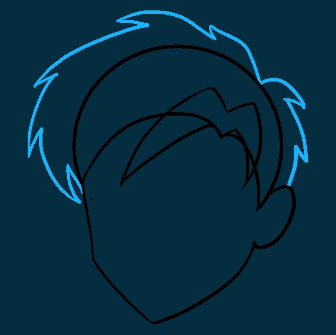 How to Draw Manga Hair 06