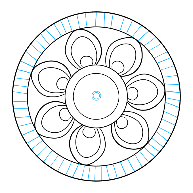 How to Draw Beginner Mandala: Step 6