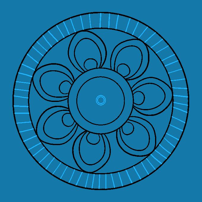 How to Draw Beginner Mandala Step 06