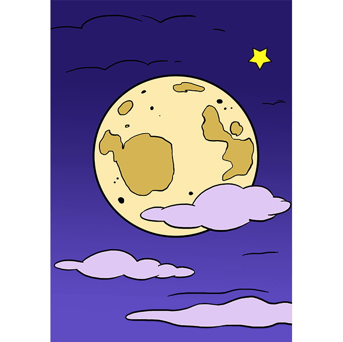 How to Draw Moon: Step 10