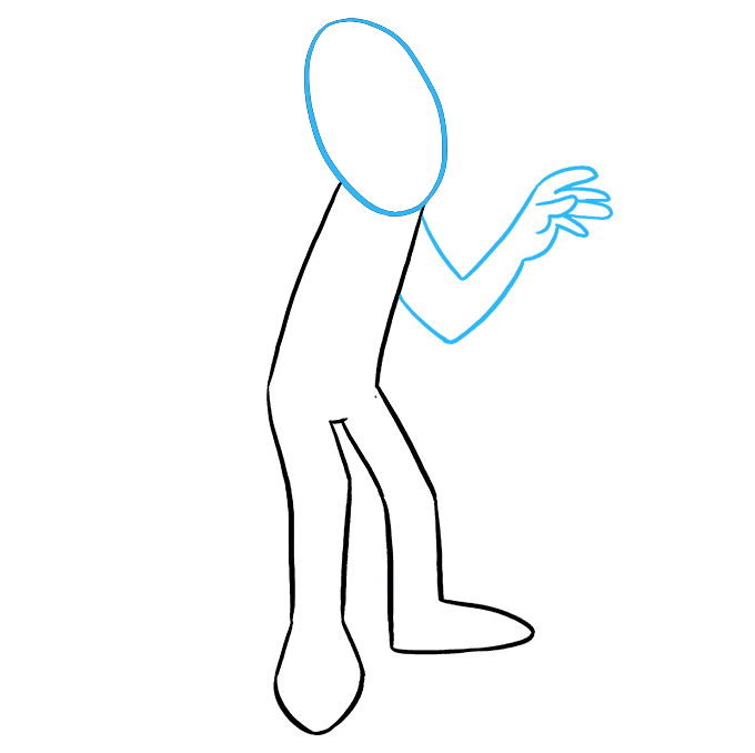 How to Draw Mummy: Step 4