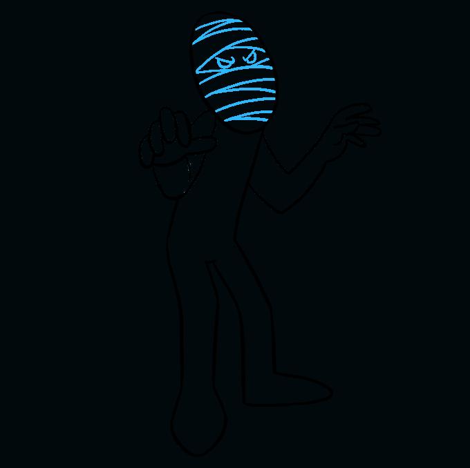 How to Draw Mummy: Step 7