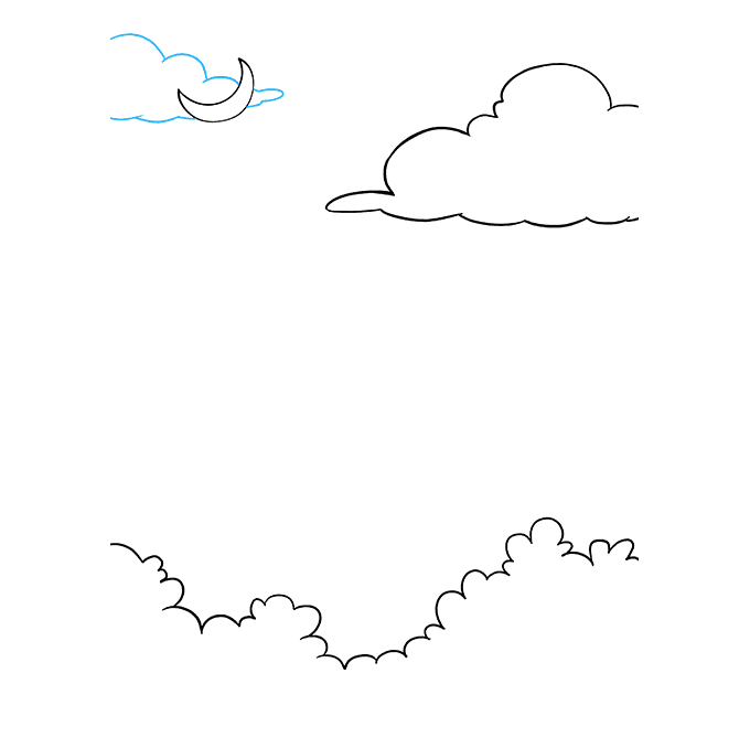 How to Draw Night Sky: Step 4