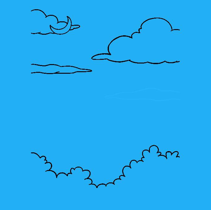 How to Draw Night Sky: Step 6