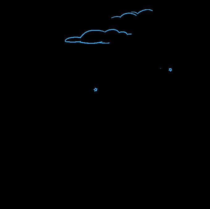 How to Draw Night Sky: Step 9