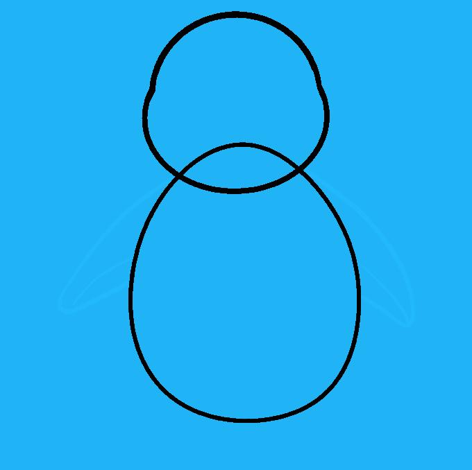 Cómo dibujar pingüino: Paso 5