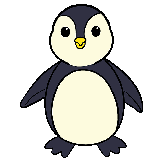 It is an image of Ridiculous Penguin Cartoon Drawing