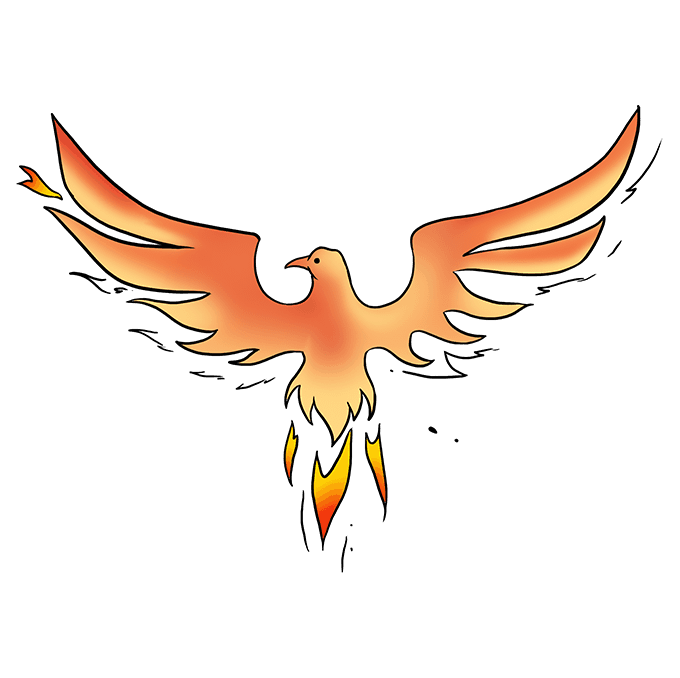 How to Draw Phoenix: Step 10