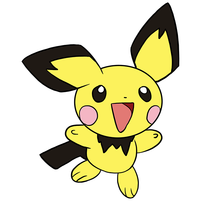 How to Draw Pichu: Step 10