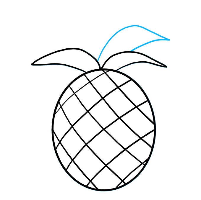 How to Draw Pineapple: Step 5