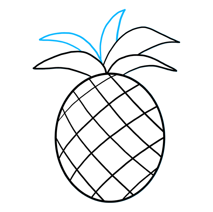 How to Draw Pineapple: Step 6