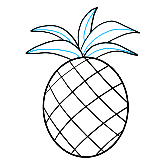 How to Draw Pineapple: Step 7