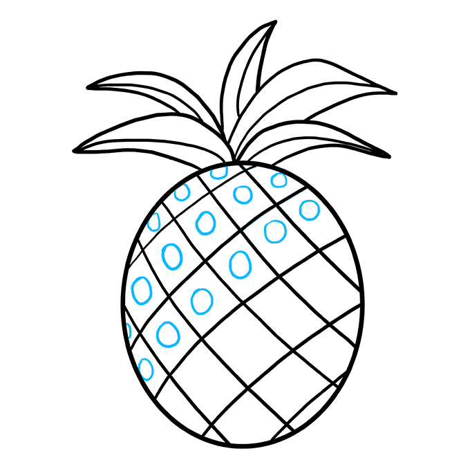 How to Draw Pineapple: Step 8