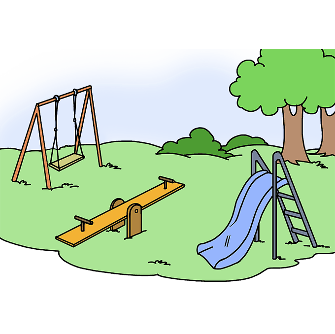 How to Draw Playground: Step 10