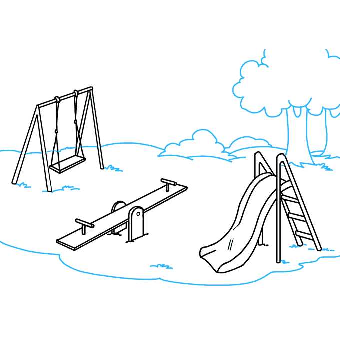 How to Draw Playground: Step 9