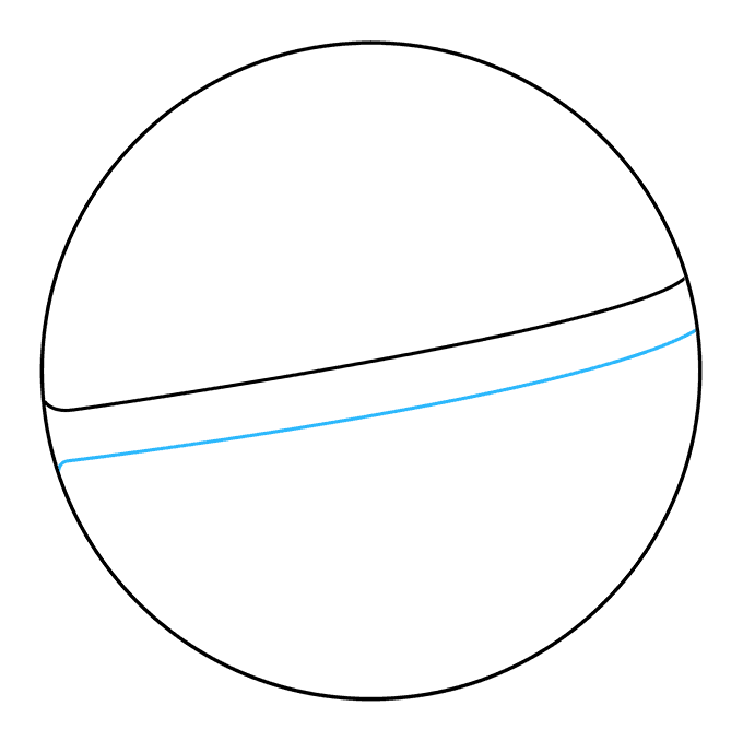 How to Draw a Pokeball Step 03