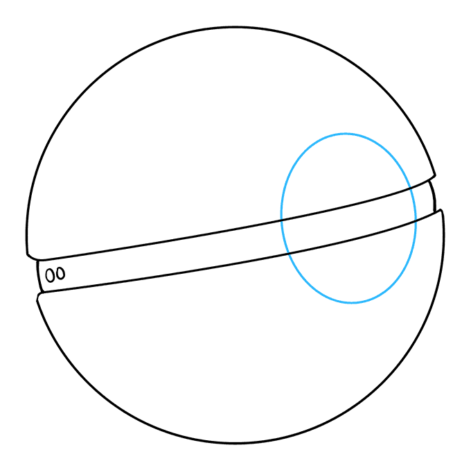 How to Draw Poke Ball: Step 6
