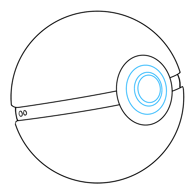 How to Draw a Pokeball Step 08