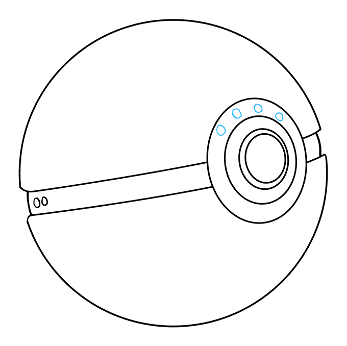 How to Draw a Pokeball Step 09