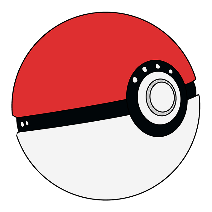 How to Draw Poke Ball: Step 10