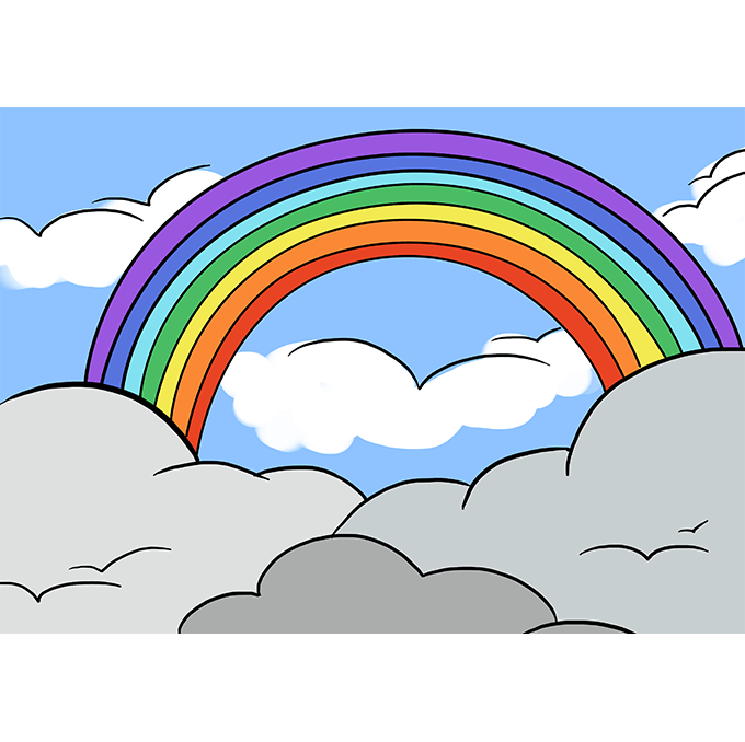 How to Draw Rainbow: Step 10