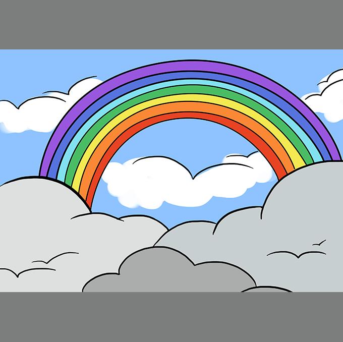 How to Draw Rainbow Step 10