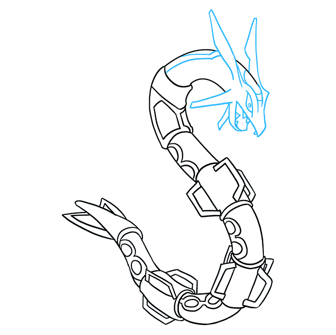How to Draw Rayquaza: Step 8