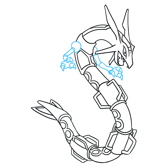 How to Draw Rayquaza: Step 9