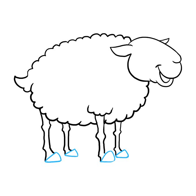 How to Draw Sheep: Step 7