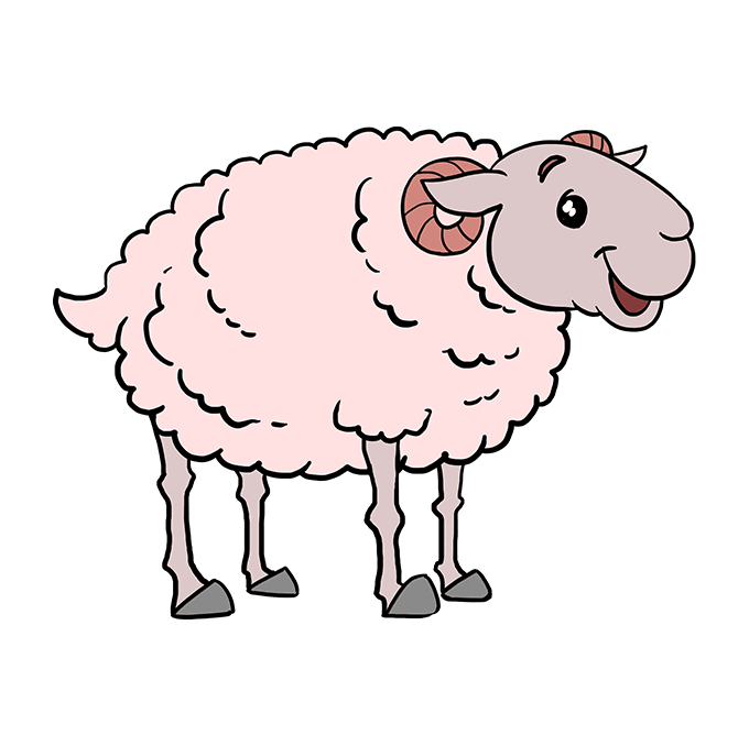 How to Draw Sheep: Step 10