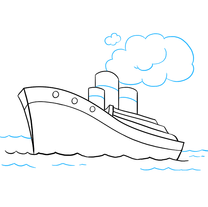 How to Draw Ship: Step 9