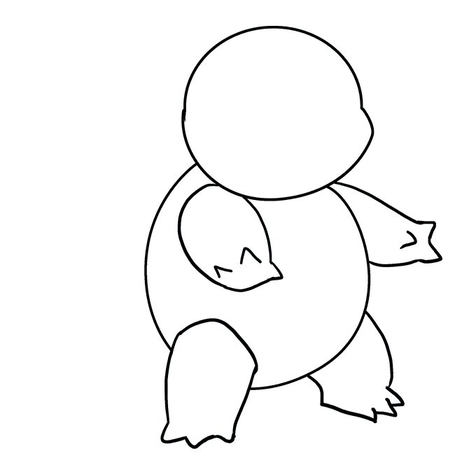 How to Draw Squirtle: Step 6