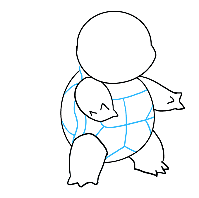 How to Draw Squirtle: Step 7