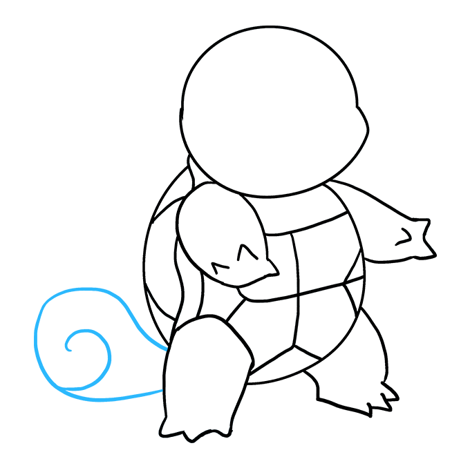 How to Draw Squirtle: Step 8