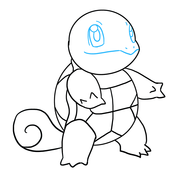 How to Draw Squirtle: Step 9