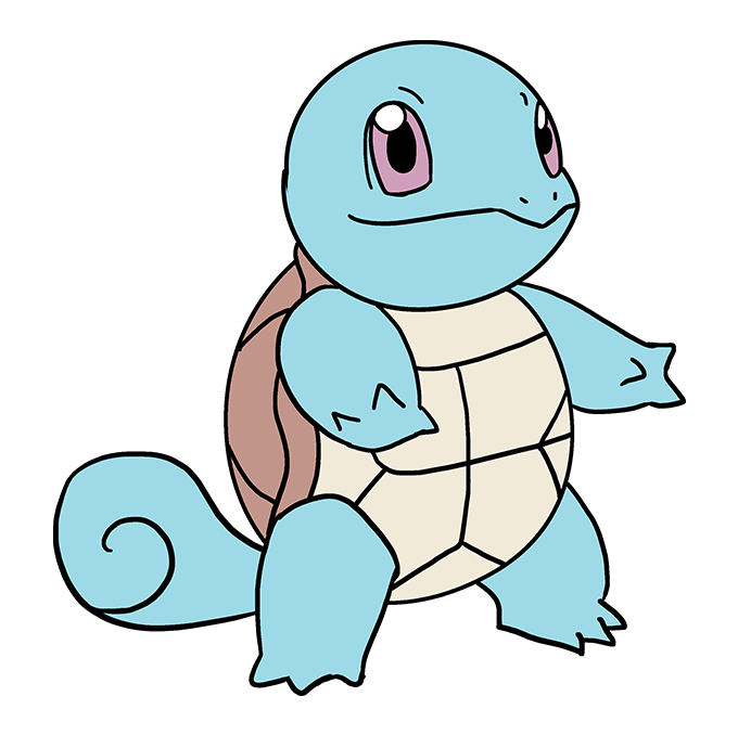 How to Draw Squirtle: Step 10