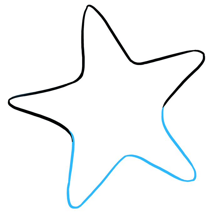 How to Draw Cute Starfish: Step 3