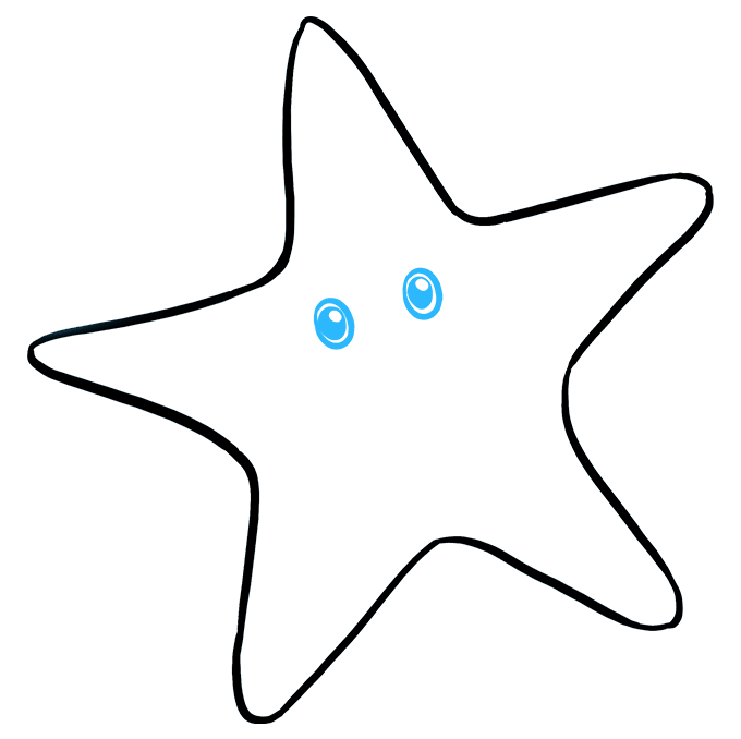 How to Draw Cute Starfish: Step 4