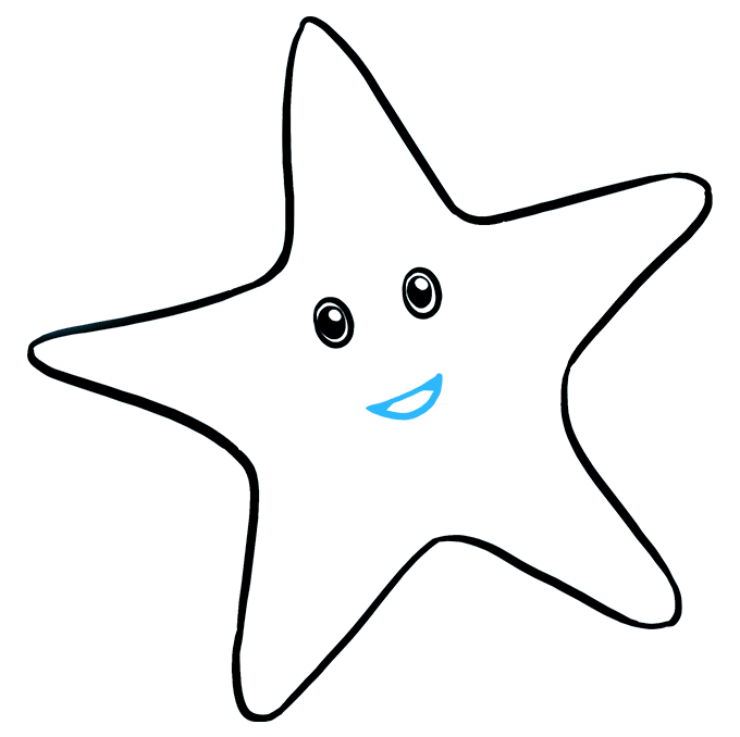 How to Draw Cute Starfish: Step 5