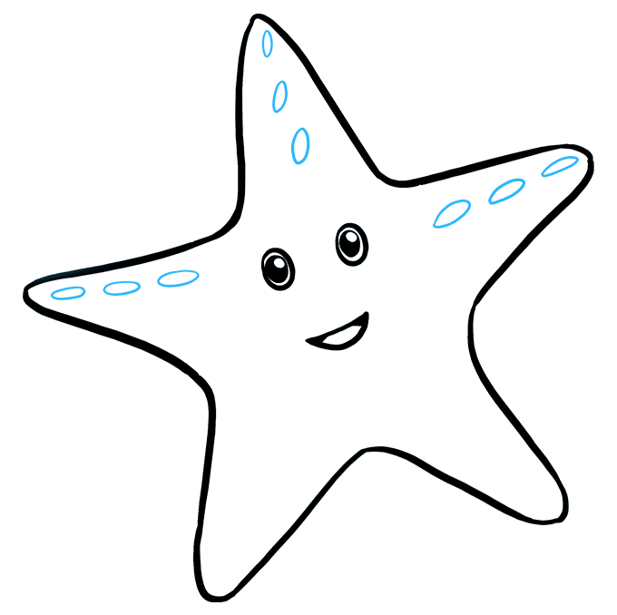 How to Draw Cute Starfish: Step 6