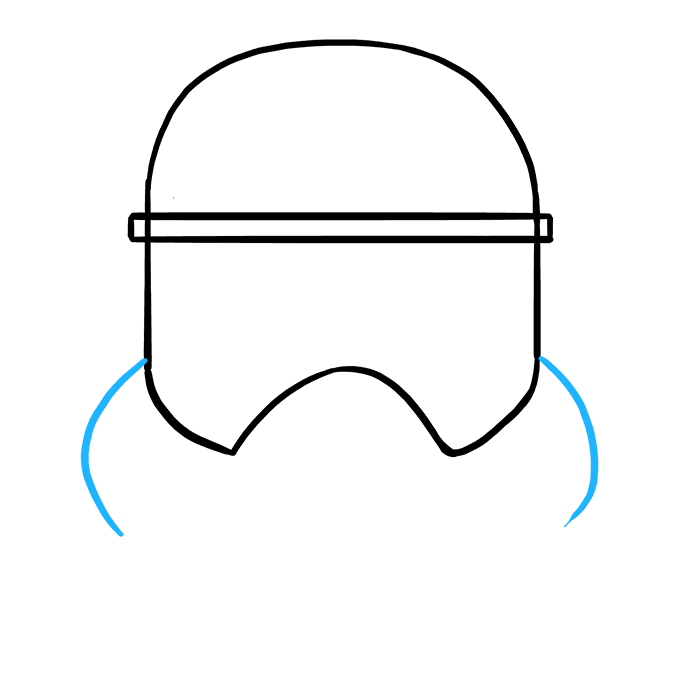 How to Draw Stormtrooper Helmet: Step 4