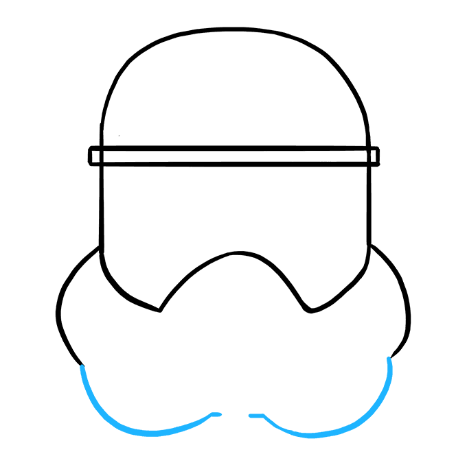 How to Draw Stormtrooper Helmet: Step 5