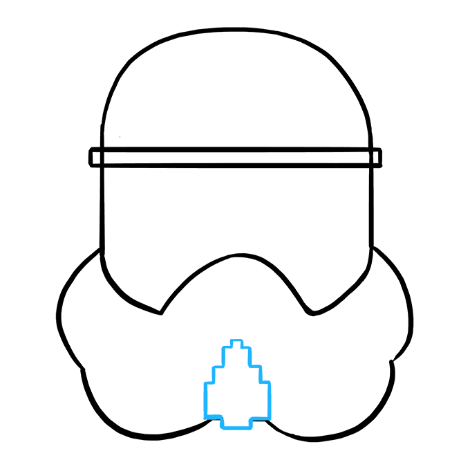 How to Draw Stormtrooper Helmet: Step 6